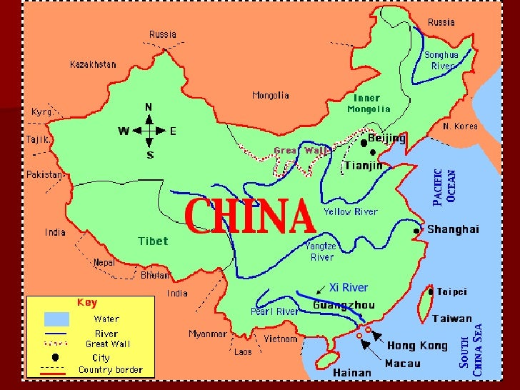 Xi River China Map.Geography Of China
