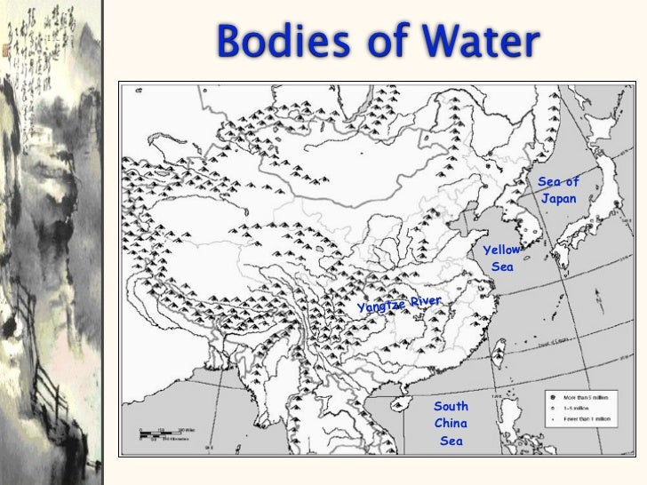 Geography Of China - Japan map bodies of water