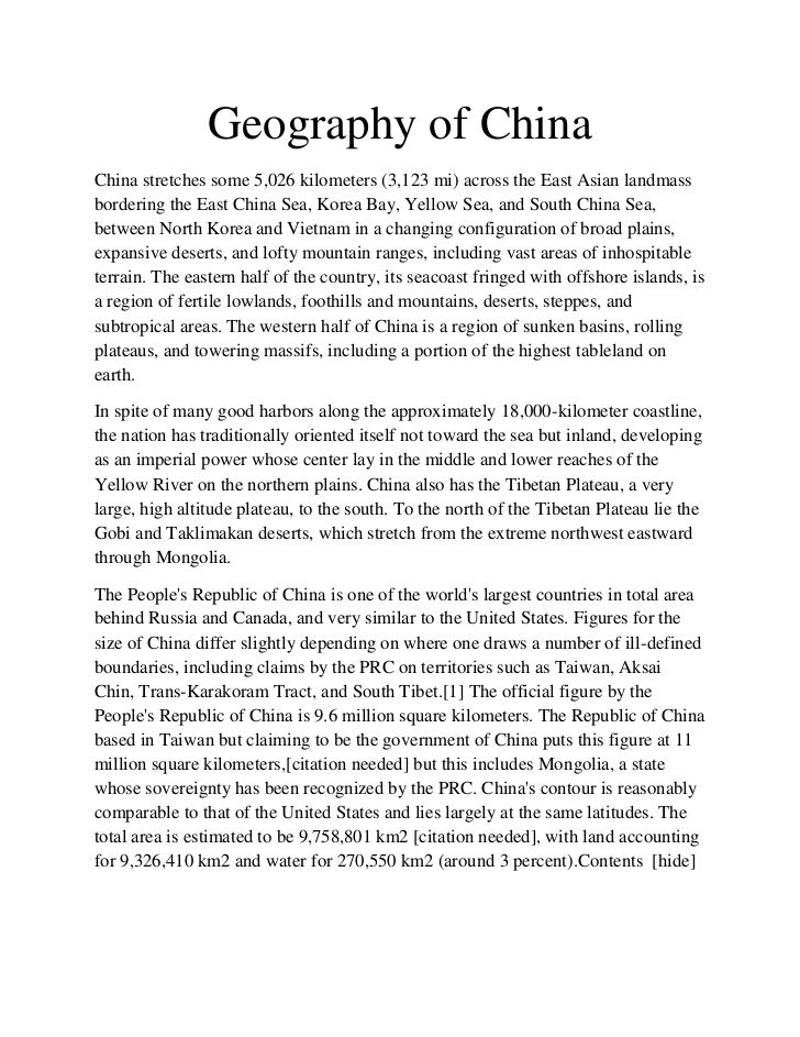 Geography of ChinaChina stretches some 5,026 kilometers (3,123 mi) across the East Asian landmassbordering the East China ...