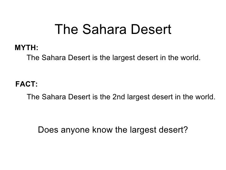 Geography Of North Africa - Largest desert in the world
