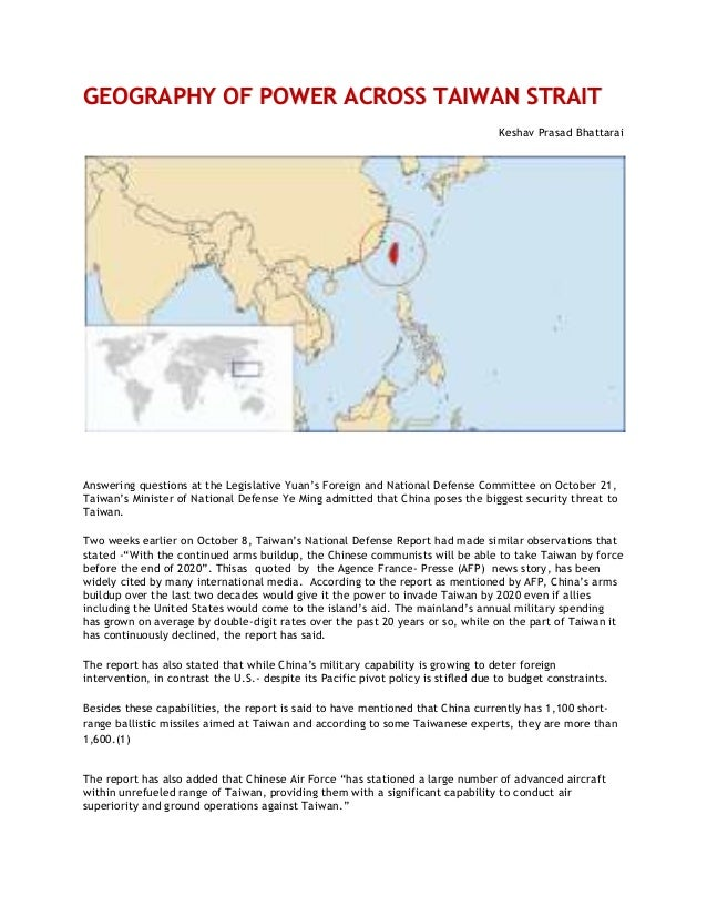 """GEOGRAPHY OF POWER ACROSS TAIWAN STRAIT Keshav Prasad Bhattarai  Answering questions at the Legislative Yuan""""s Foreign and..."""