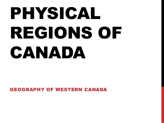physical regions of western canada