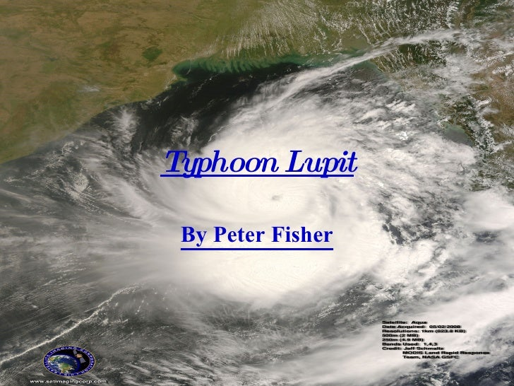 Typhoon Lupit By Peter Fisher