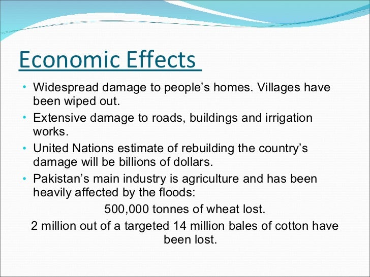Economic Effects  <ul><li>Widespread damage to people's homes. Villages have been wiped out. </li></ul><ul><li>Extensive d...