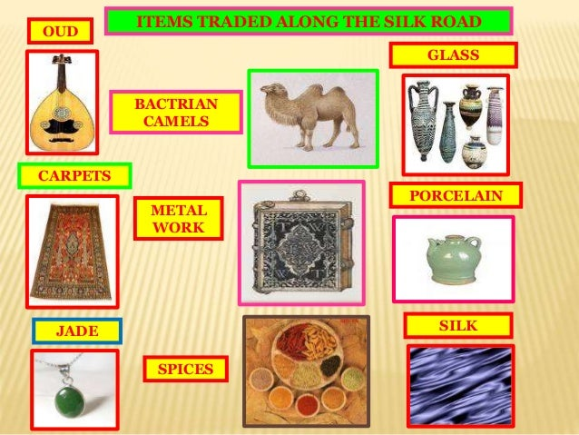 Geography ppt silk road for West materials things