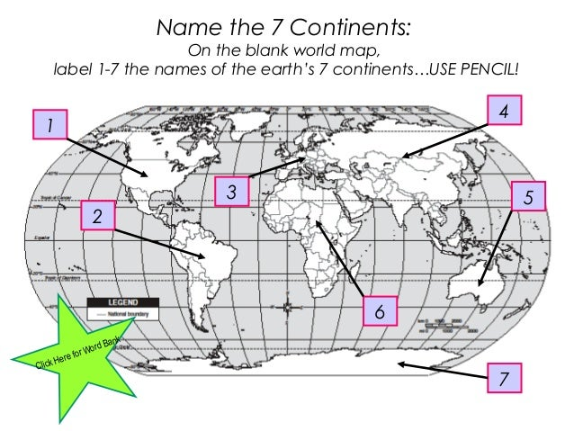 Geography Presentation - Blank world map label