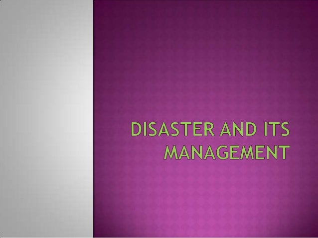 What is a disaster? Ans. Any natural hazard which causes loss of life and property is called a disaster.  How can a hazar...