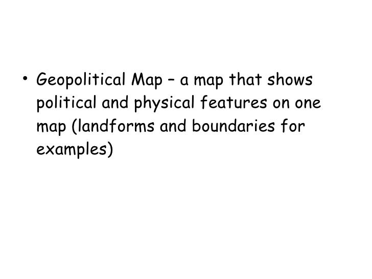 geography terms power point