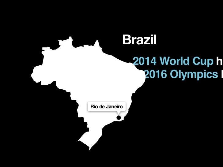 Brazil                 2014 World Cup ho                   2016 Olympics hRio de Janeiro