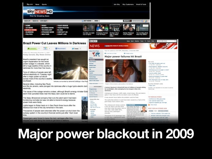 Caused by Brazil's aging                         power systems                                Millions of                 ...