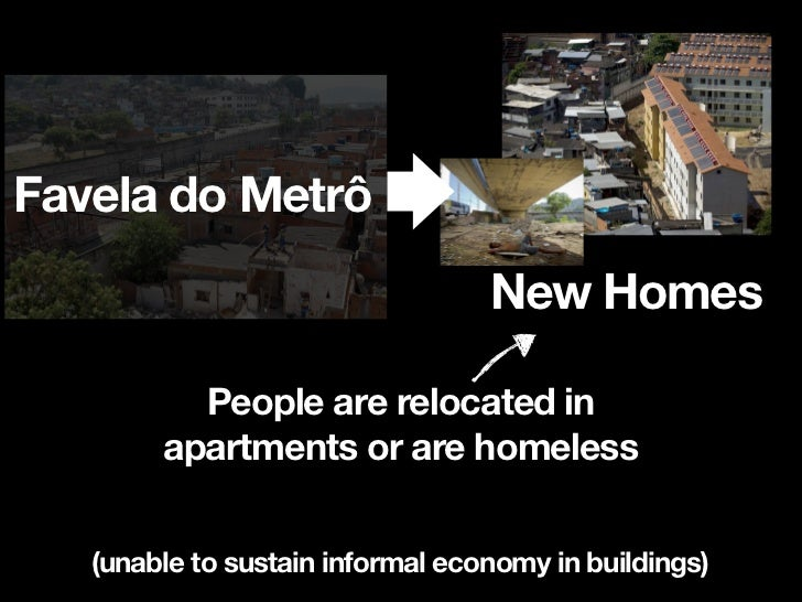 Favela do Metrô                                  New Homes       People have homes   bulldozed with a short time    of not...
