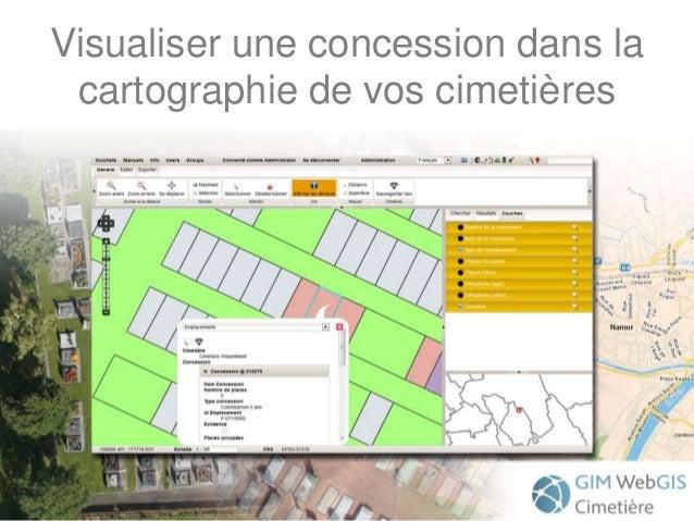 Visualiser une concession dans la cartographie de vos cimetières