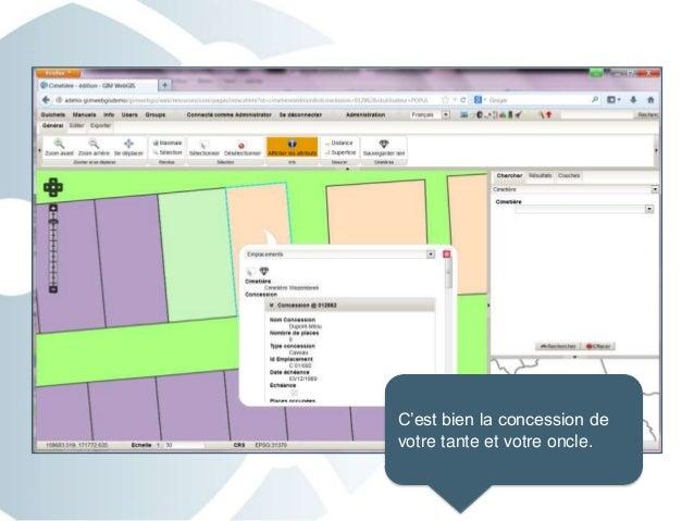 Geoguichet cimetière 1 - Visualiser une concession dans la cartographie de vos cimetières