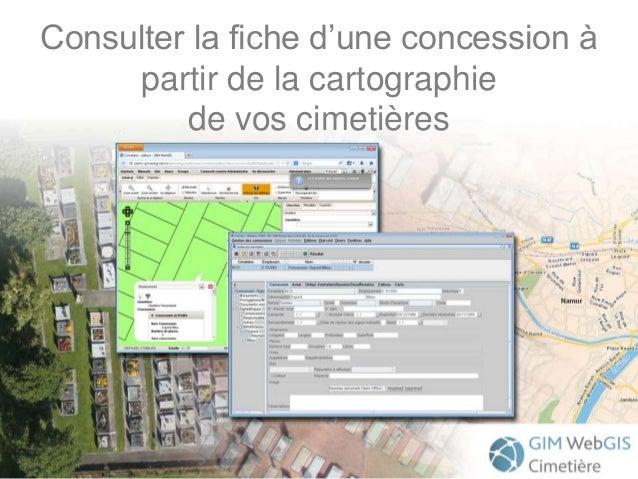 Consulter la fiche d'une concession à partir de la cartographie de vos cimetières
