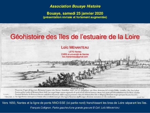 Vers 1650, Nantes et la ligne de ponts NNO-SSE (ici partie nord) franchissant les bras de Loire séparant les îles. Françoi...