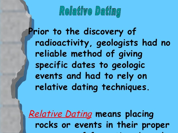 Relative dating synonym