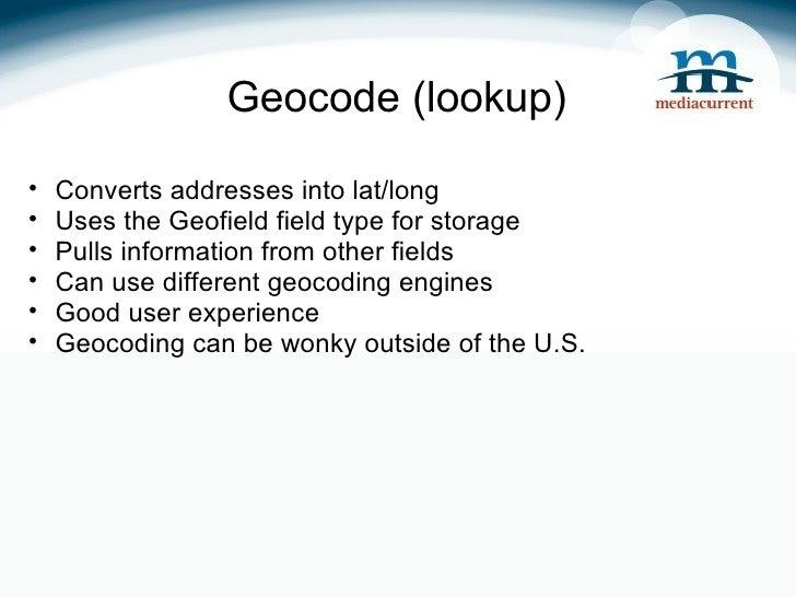 Geolocation in Drupal