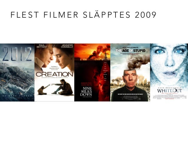 FLEST FILMER SLÄPPTES 2009