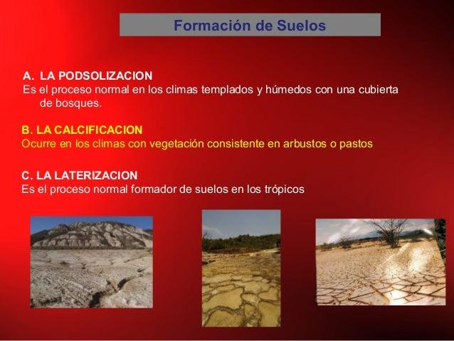 Geologia clase vii meteorizacion suelos for Proceso de formacion del suelo