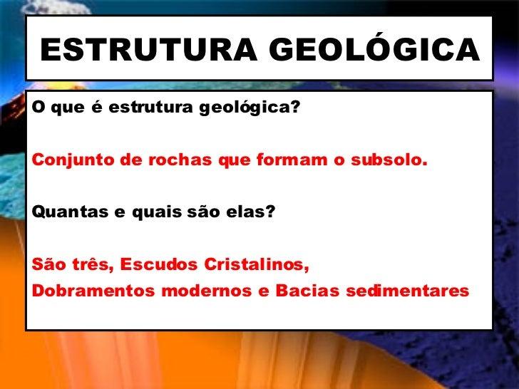 Geologia E Geomorfologia