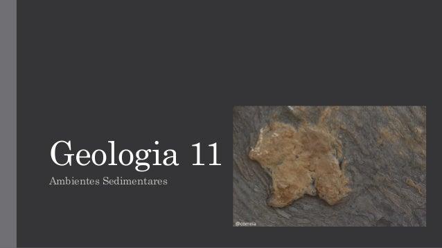 Geologia 11 Ambientes Sedimentares