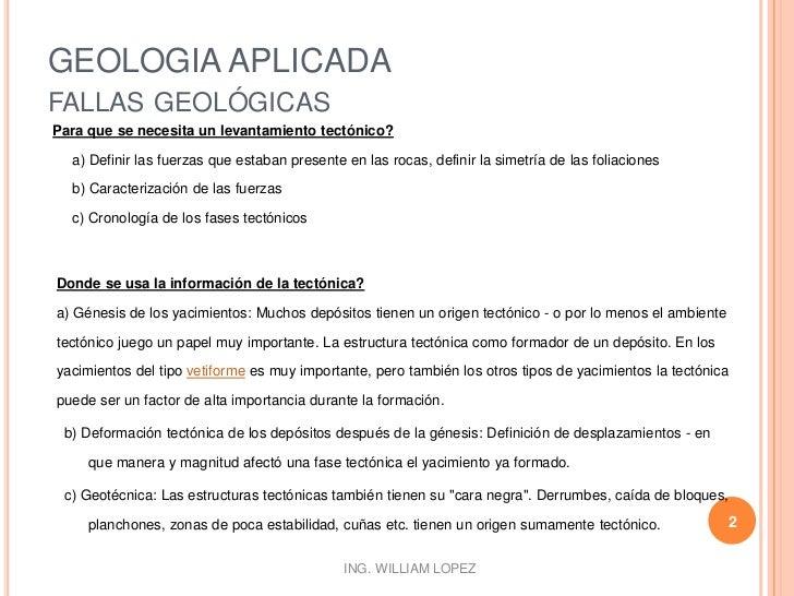 Geologia aplicada - Fallas Geologicas Parte II Slide 2