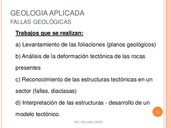 Geologia aplicada - Fallas Geologicas Parte II Slide 3