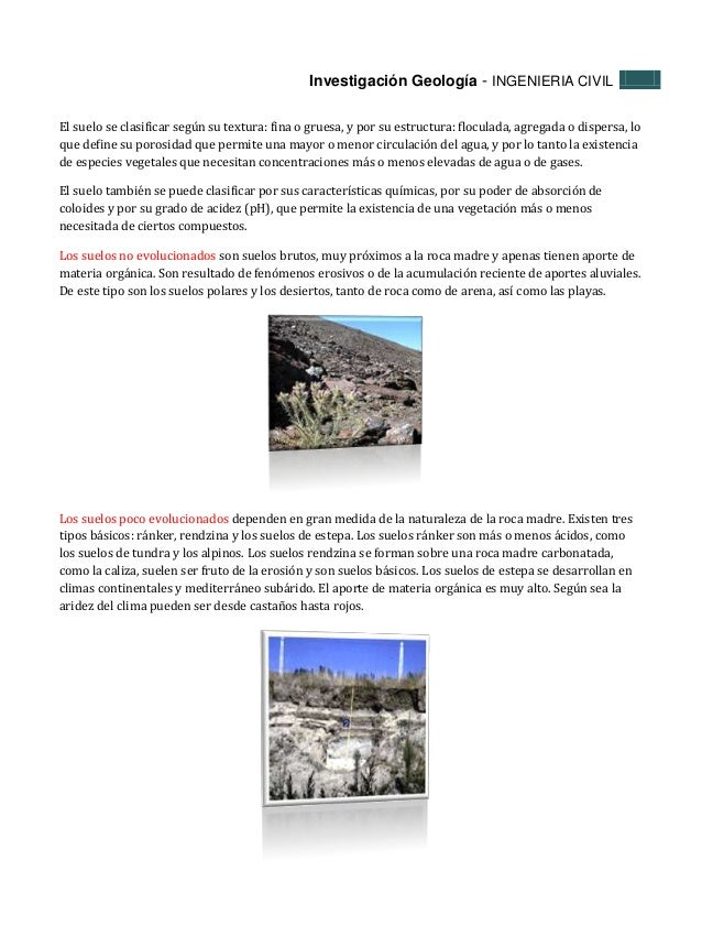 Tipos de suelos y tipos de rocas - Tipos de suelos ...