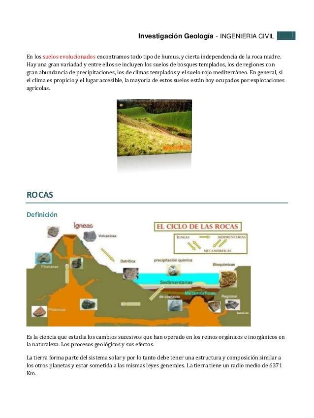 Tipos de suelos y tipos de rocas for Como estan formados los suelos