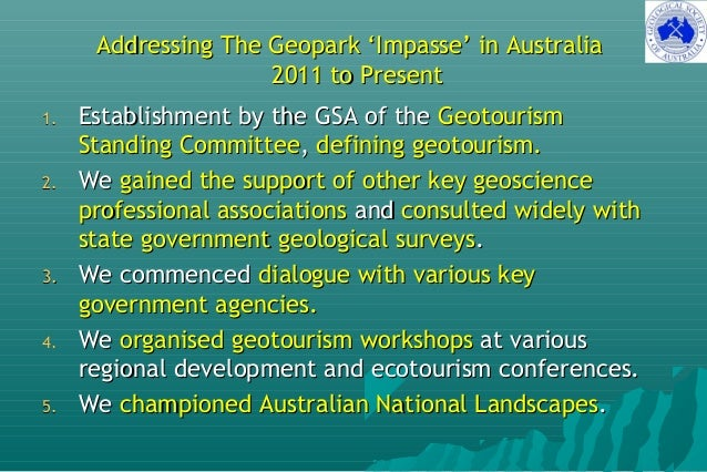 Development of Two Australian Pre-Aspiring UNESCO Global Geoparks - Report to the 5th APGN, China, Sept 2017 Slide 3