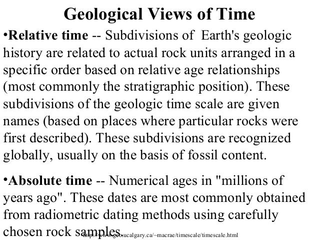 geologic history relative dating notes Hutton was also a keen observer of the geologic changes taking place on his farm using scientific methods, hutton drew conclusions based on his observatiions today, he is most famous for his ideas and writings about geology hutton is just another of numerous scotsman that change our view of the world during the.