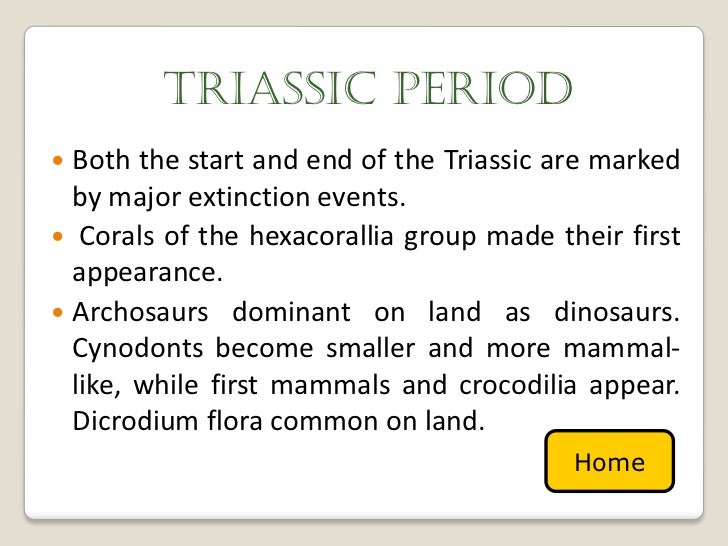 what major events happened in the triassic period