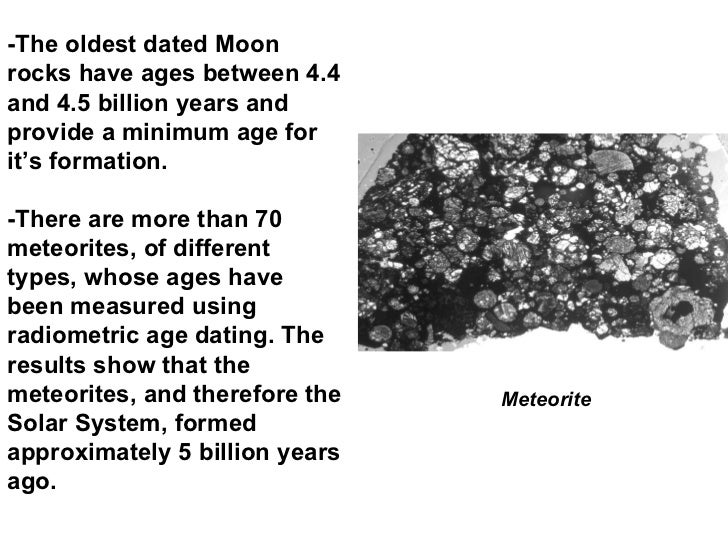 dating lunar rocks formula Two sources of rocks and lunar minerals exist indeed, they consist in:  one of  their main interests is to have been dated by radioisotopic methods  the two  minerals possess a formula (mn, fe) sio3 however pyroxmangite never contains .