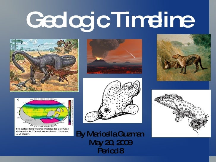 Geologic Timeline By Maricella Guzman May 20, 2009 Period 8