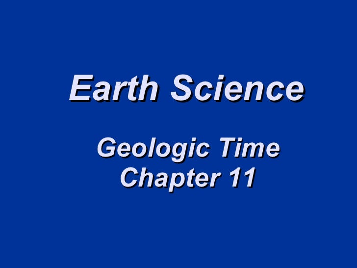 Earth Science Geologic Time Chapter
