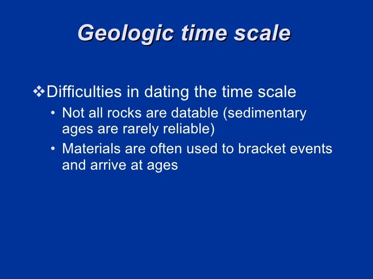 difficulties in dating the geologic time scale