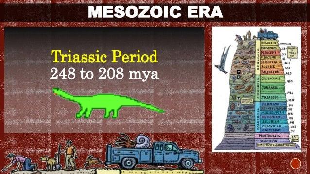 MESOZOIC ERA  Triassic Period  248 to 208 mya