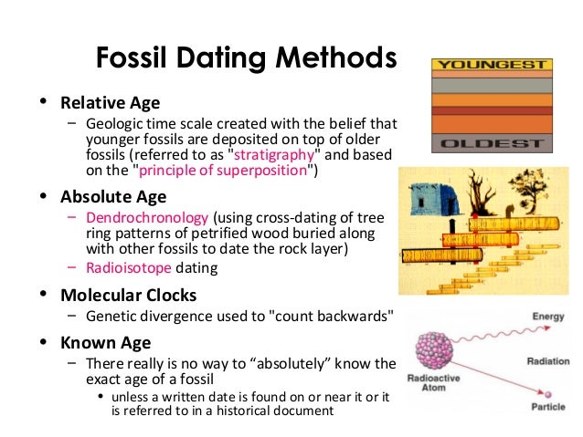 Compare absolute and relative hookup methods of assessing fossil age