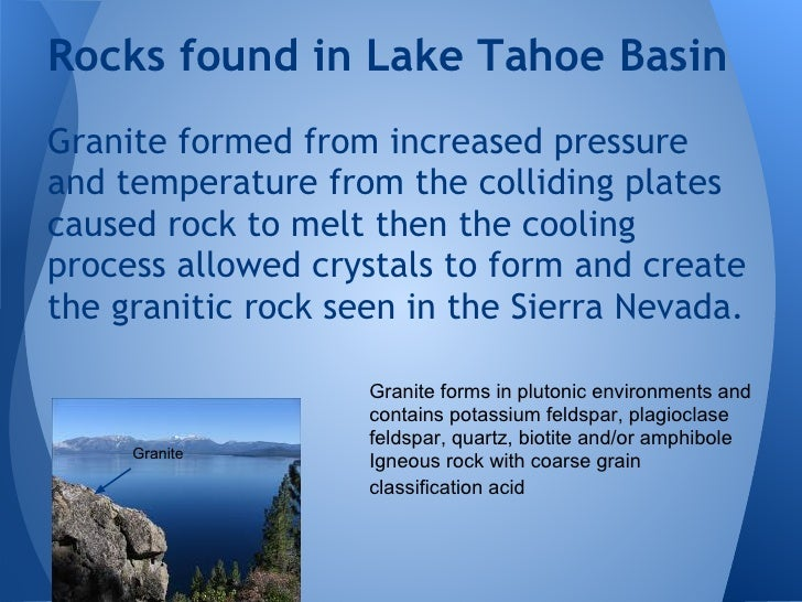 Geology Of Lake Tahoe 2012