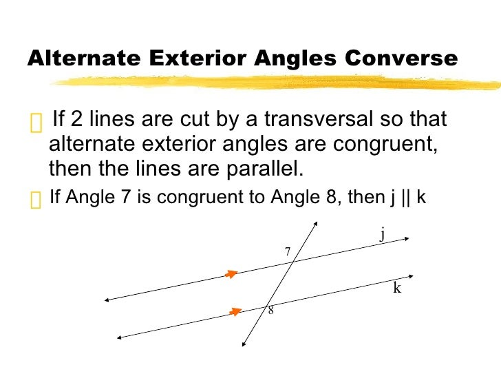 Geom 3point4and5 - Alternate exterior angles converse ...