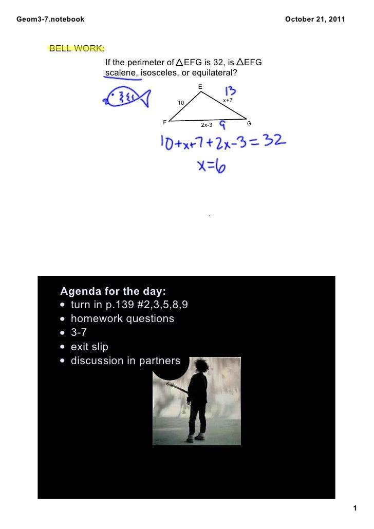 Geom37.notebook                                                   October21,2011       BELLWORK:                    If...