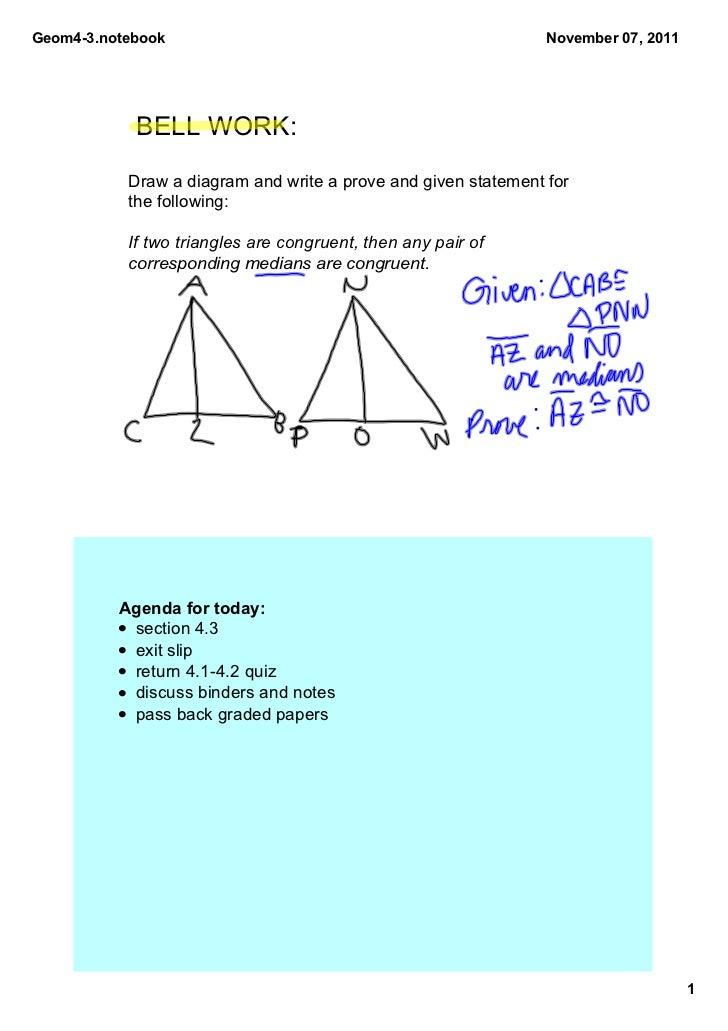 Geom43.notebook                                                November07,2011            BELLWORK:           Drawad...