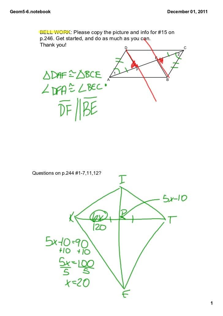 Geom56.notebook                                              December01,2011           BELLWORK:Pleasecopythepictu...