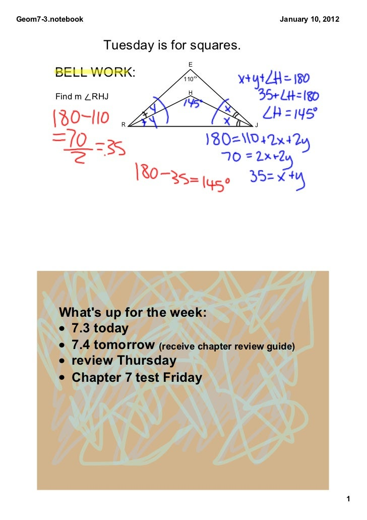 Geom7­3.notebook                                    January 10, 2012                    Tuesday is for squares.           ...