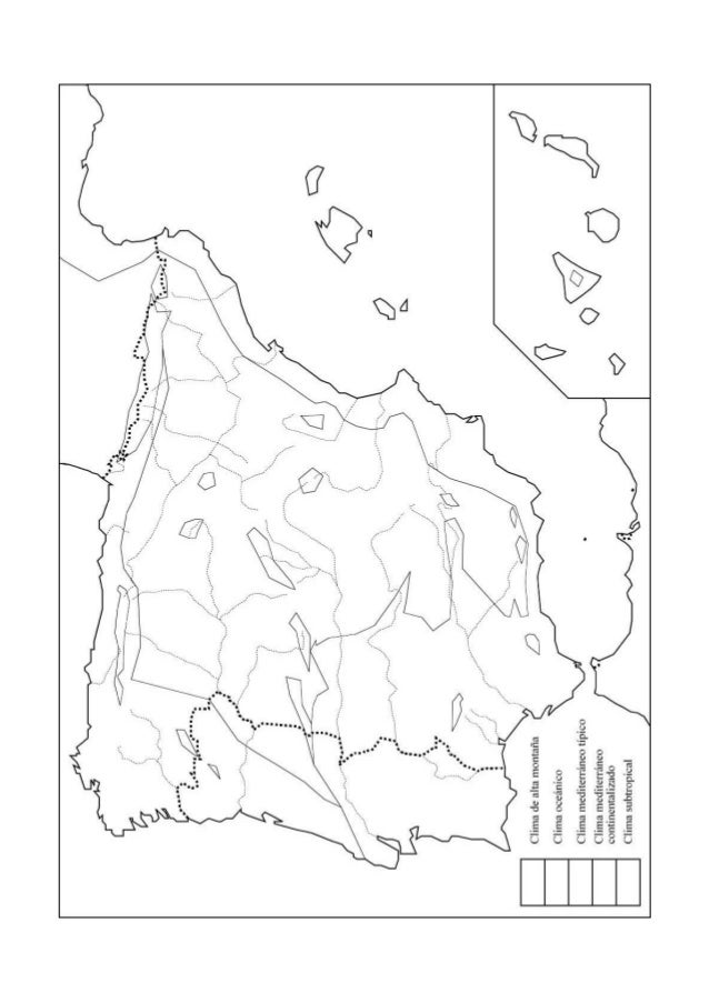 Mapa Climatico De España Mudo.Mapas Mudos Geografia De Espana
