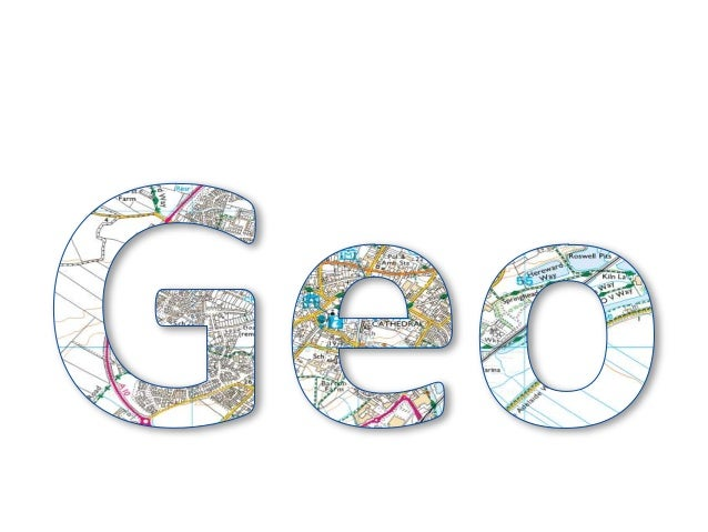 Geo map letters to print