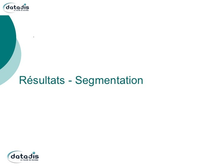 Résultats - Segmentation