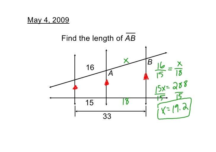 May4,2009          FindthelengthofAB                                  B               16                      A     ...