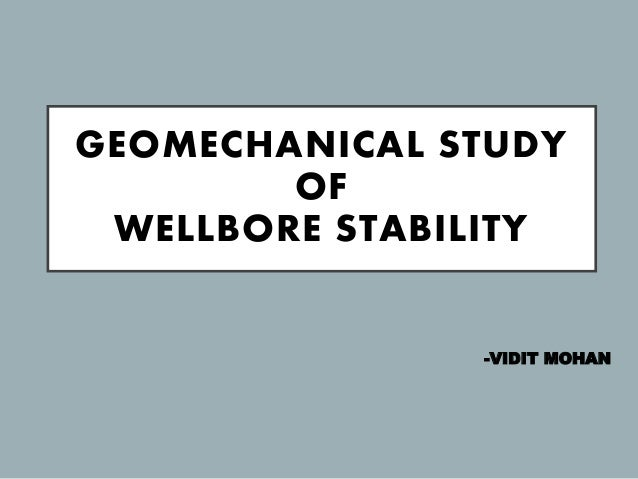 Wellbore stability study courses