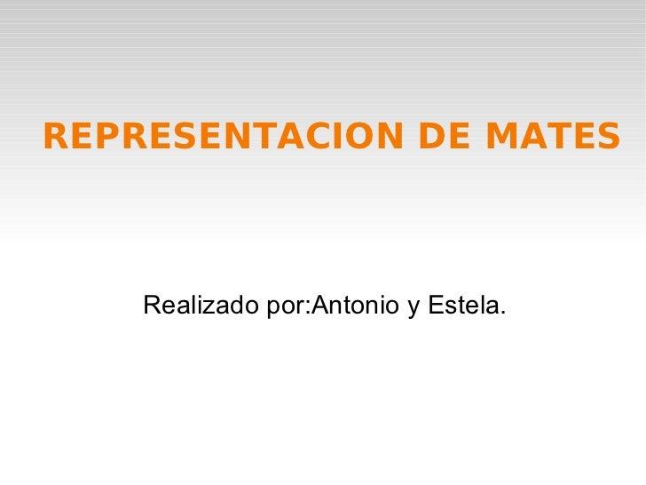 REPRESENTACION DE MATES Realizado por:Antonio y Estela.